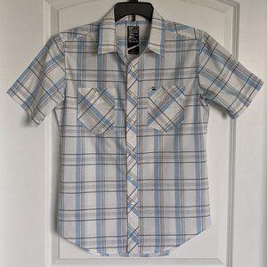 BillaBong White and Blue Plaid Shirt